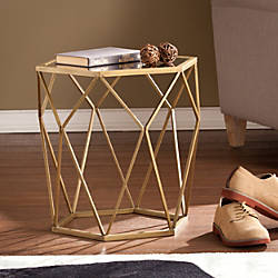 Southern Enterprises Joelle Geometric Accent Table