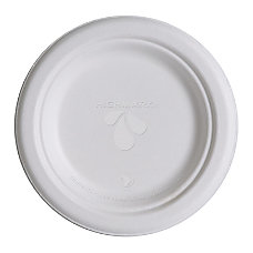 Highmark Renewable Breakroom Plates 6 White
