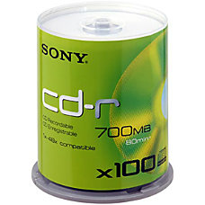 Sony 100CDQ80SP CD Recordable Media CD