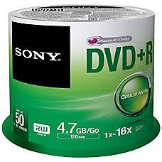 Sony DVD Recordable Media DVDR 16x