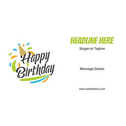Custom Horizontal Banner Birthday Cap