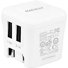 Macally 15W Two USB Port Wall