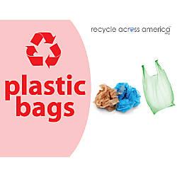 Recycle Across America Plastic Bags Standardized