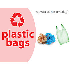 Recycle Across America Plastic Bags Standardized
