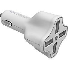 DigiPower 4 Port USB Car Charger