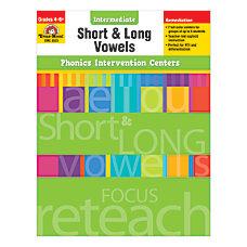 Evan Moor Phonics Intervention Center Short