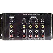 Calrad Electronics 1X4 CompositeS VideoAnalog Audio