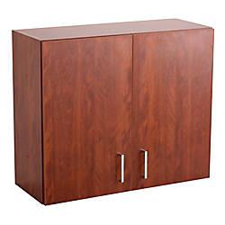 Safco Modular Hospitality Wall Cabinet Mahogany