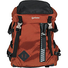 Manhattan Zippack 156 Laptop Backpack OrangeBlack