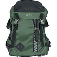 Manhattan Zippack 156 Laptop Backpack GreenBlack