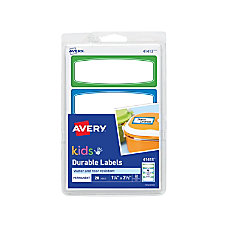 Avery Kids Permanent Waterproof Labels 3