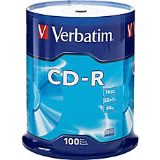 Verbatim CD R Recordable Media Spindle