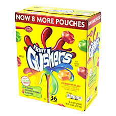 Gushers Fruit Pouches 09 Oz Box