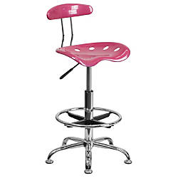 Flash Furniture Vibrant Drafting Stool PinkChrome