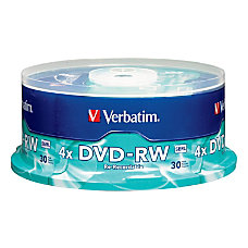 Verbatim DVD RW Rewritable Media Spindle