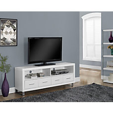 Monarch Specialties 4 Drawer TV Stand