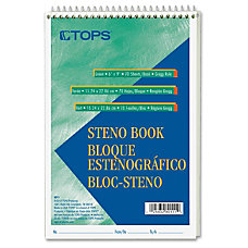 TOPS Steno Book 70 Sheets Printed