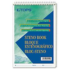 TOPS Steno Book 70 Sheets Printed