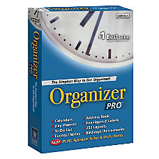 Individual Software Organizer Pro 70 Traditional