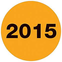 Tape Logic Year Labels 2015 3