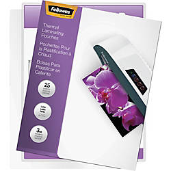 Fellowes Laminating Pouches Letter ImageLast 3
