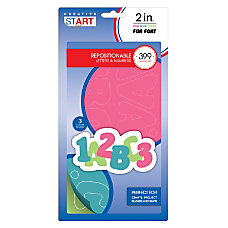 Creative Start Self Adhesive Characters Letters