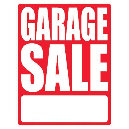 Cosco Sign Vinyl Decals Garage Sale 8 12 X 11 Pack Of 3