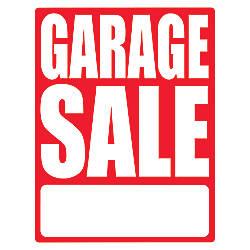 Cosco Sign Vinyl Decals Garage Sale