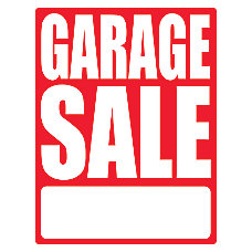 Cosco Garage Sale Sign Kit
