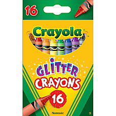 Crayola Glitter Crayons Assorted Pack Of
