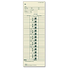 TOPS Weekly One Sided Time Card