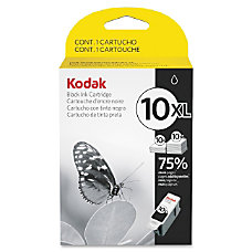 Kodak Black Ink Cartridge 10XL High
