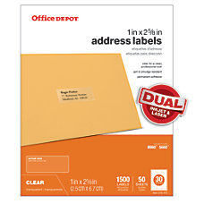 Office Depot Brand Address Labels 1