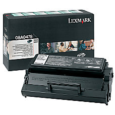 Lexmark 8A0478 Return Program Black Toner