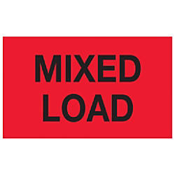 Tape Logic Preprinted Labels Mixed Load