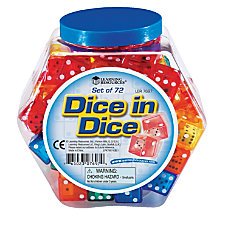 Learning Resources Dice Assorted Colors Grades