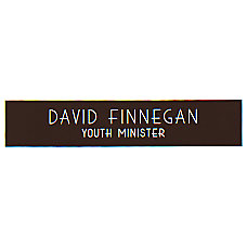 Acrylic Engraved Wall Sign 2 x