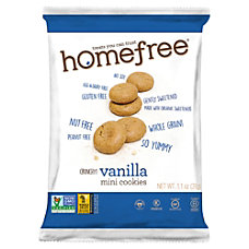 HomeFree Treats Gluten Free Vanilla Mini