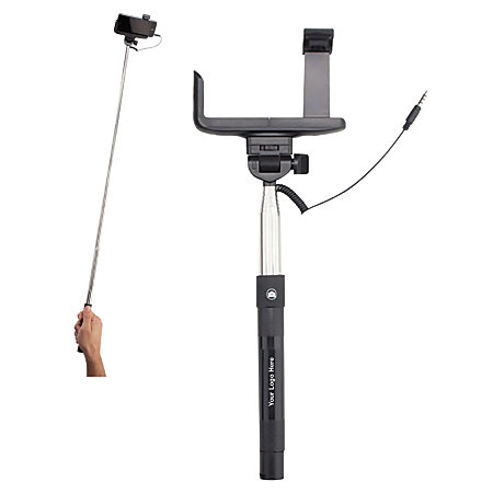 selfie stick 42 12 h x 4 w x 1 d silverblack by office depot officemax. Black Bedroom Furniture Sets. Home Design Ideas