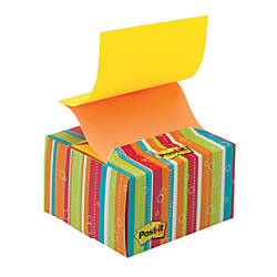 "Post-it® 3"" x 3"" Pop-up Note Dispenser, Bold Striped"