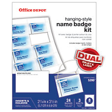 Office Depot Brand Name Badge Kit