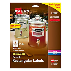 Avery Removable Durable Rectangle Labels 3