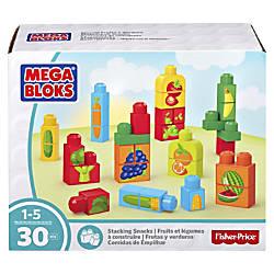 Mega Bloks Stacking Snacks Building Blocks