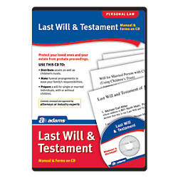 Adams Last Will And Testament For Pcmac Traditional Disc By Office
