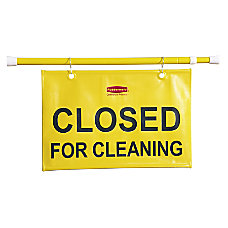Rubbermaid Closed For Cleaning Hanging Safety