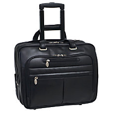 McKleinUSA Wrightwood Wheeled Laptop Case Black