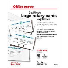 Office Depot Brand InkjetLaser Rotary Cards
