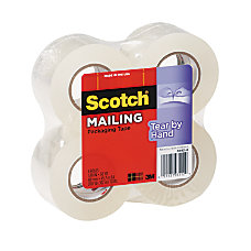 Scotch Tear By Hand Packaging Tape