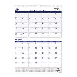 DuraGlobe Academic Year Monthly Wall Calendar