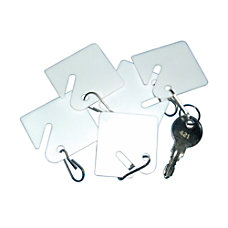 PM Company Replacement Key Tags White